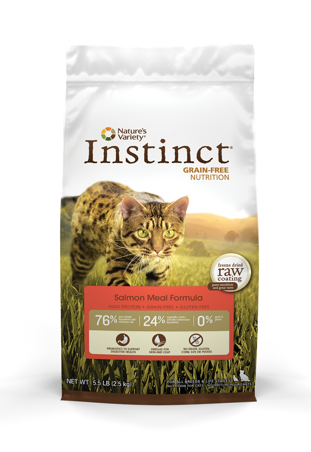 Instinct Salmon Dry Kibble Pet Food Provide Natural And Healthy Foods For Your Cat Freedom From Allergies He Cat Food Reviews Dry Cat Food Instinct Cat Food
