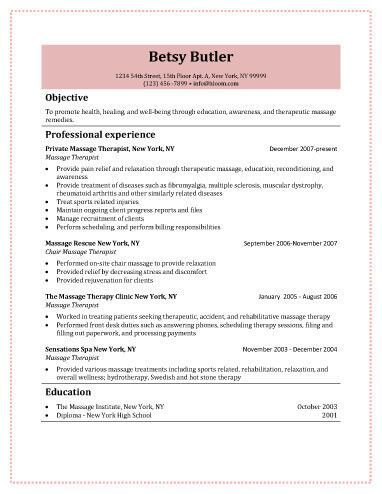 Relaxology Massage Therapist Free Resume Template Kmyshnu - The Best