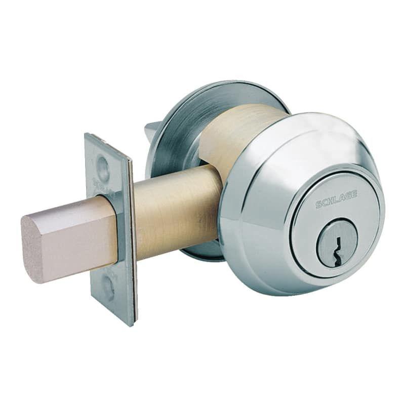 Schlage B662bd B600 Series Commercial Grade 1 Double Cylinder Deadbolt Less Smal Satin Chrome Deadbolt Keyed Entry Double Cylinder In 2020 Deadbolt Lock Security Door