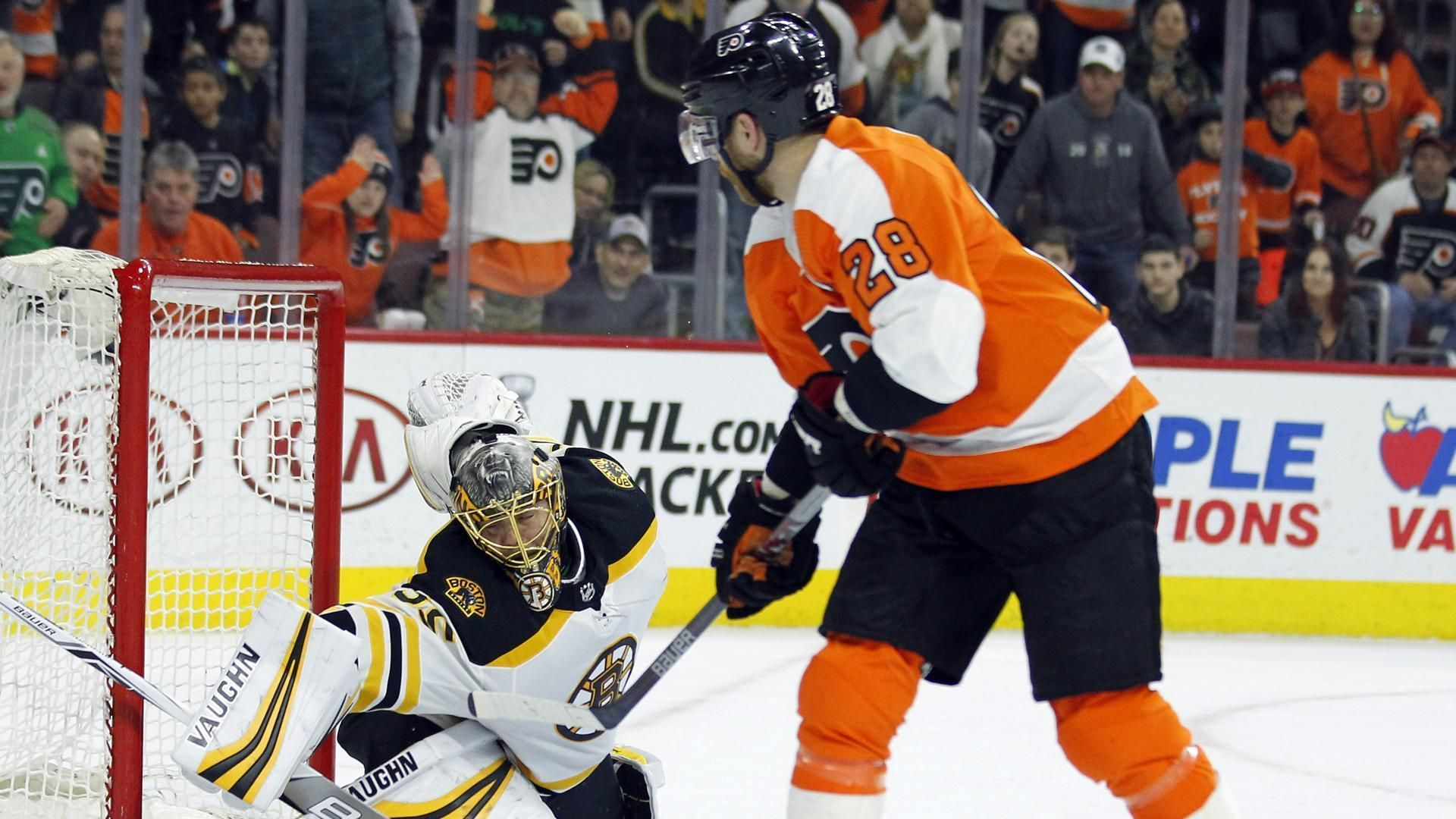 Bruins Claw Out A Point In Overtime Loss To Flyers The Boston Globe Boston Bruins Goalies Bruins Boston Bruins