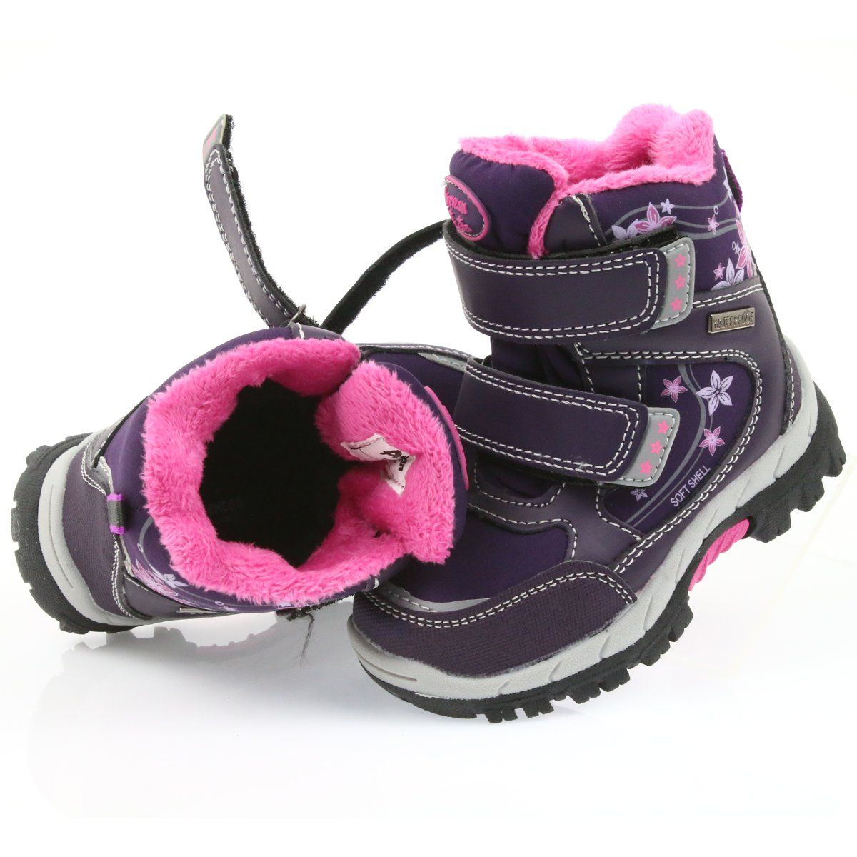 American Club American Kozaki Buty Zimowe Z Membrana 3121 Fioletowe Boots Shoes Baby Shoes