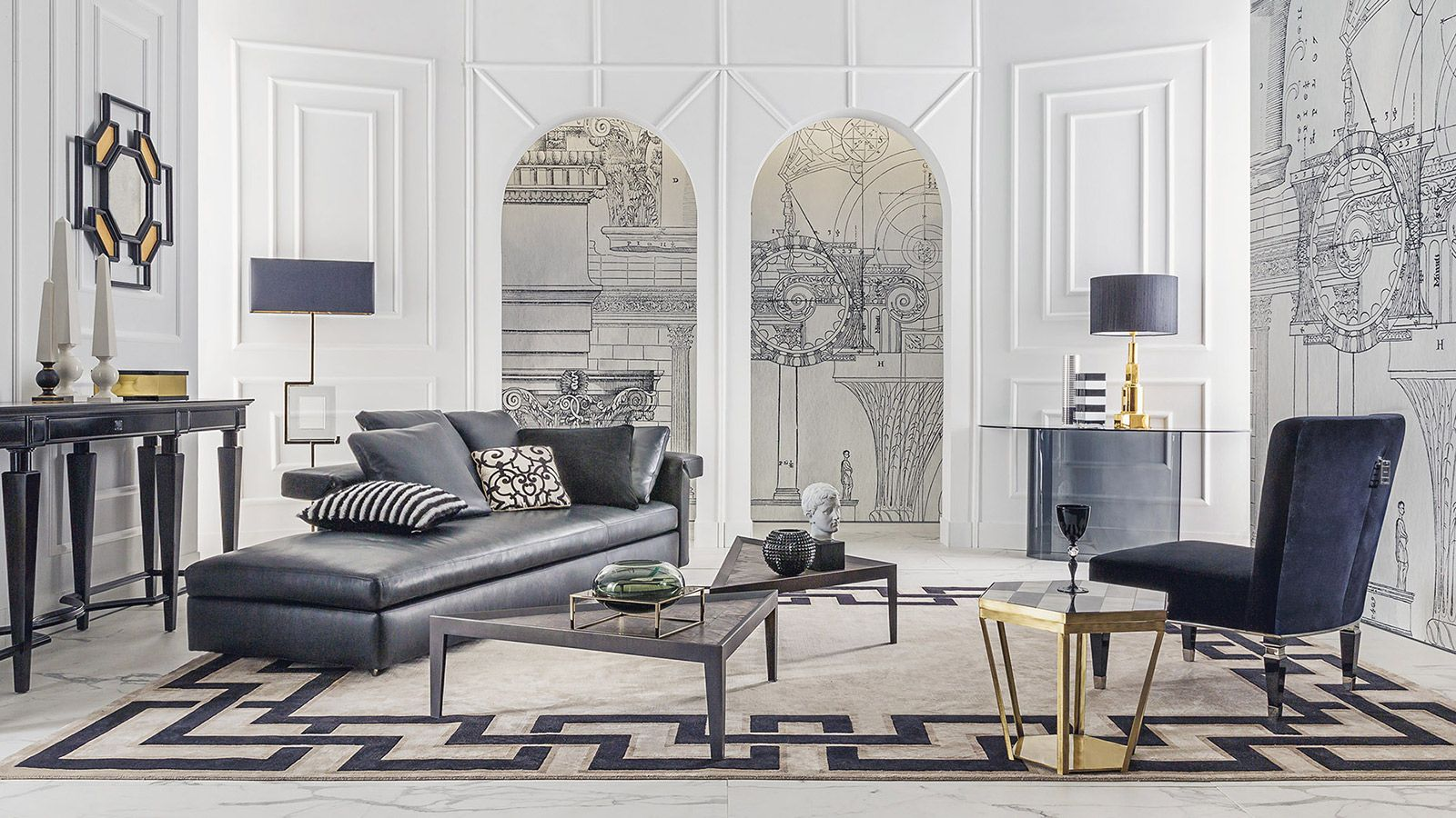 Black On White With Images Classic Interior Design Interior