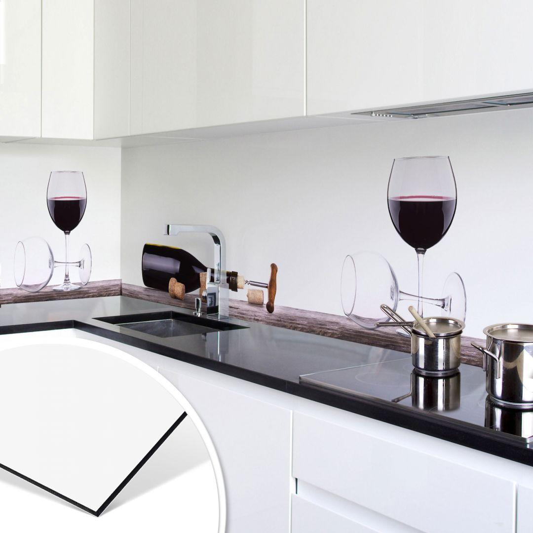 Rivestimento per cucina in Alu-Dibond – Vino rosso | wall ...