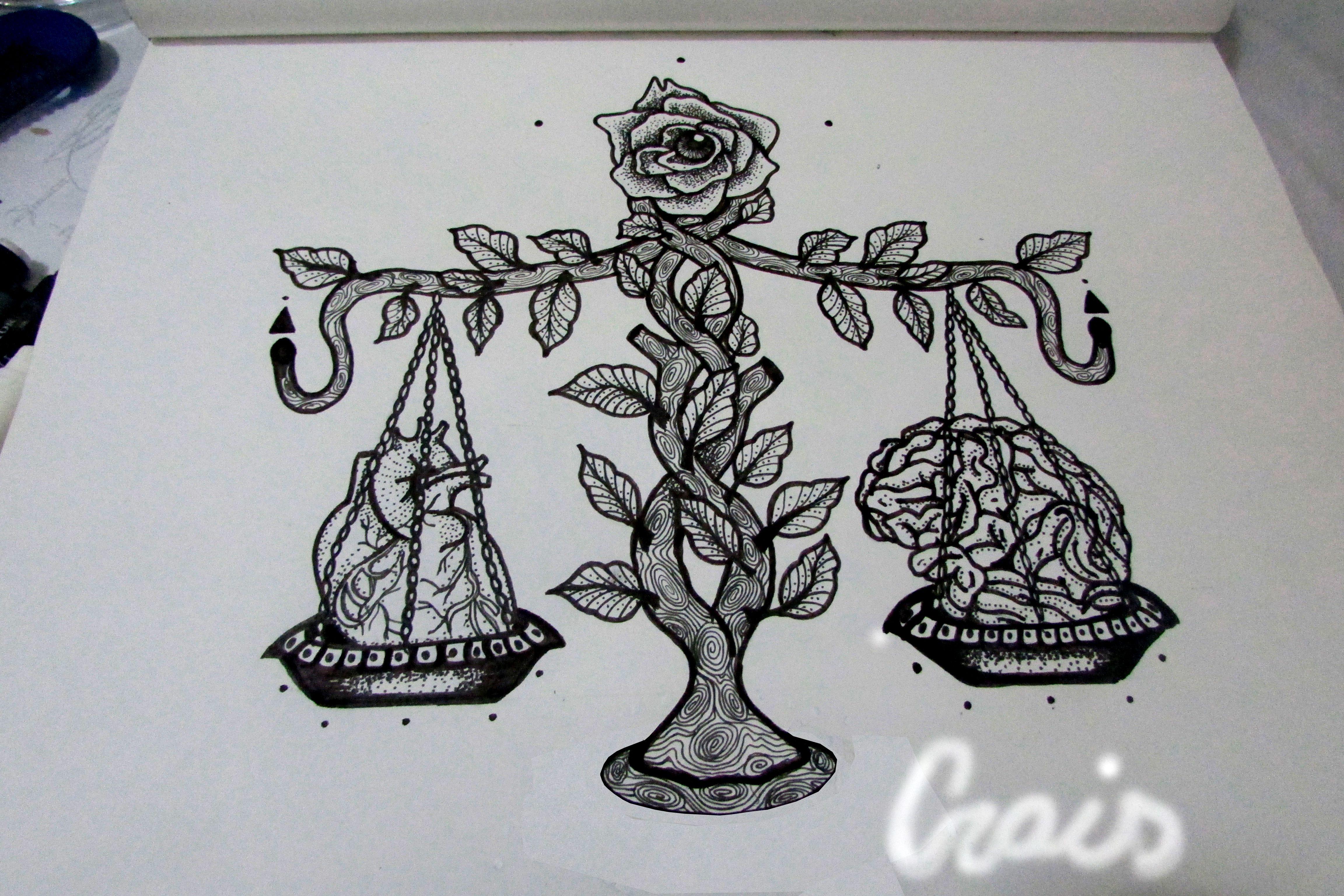 Equilibrio Balanca Balance Tattoo Razao Emocao