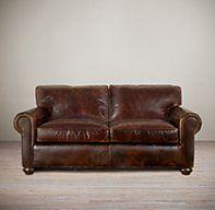 72 lancaster leather sofa nook cost sofas restoration hardware