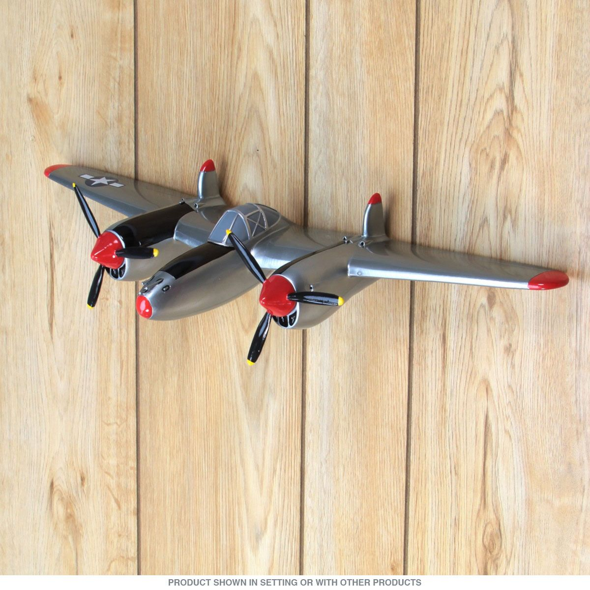 P-38 Fighter Airplane WWII 3D Resin Wall Art