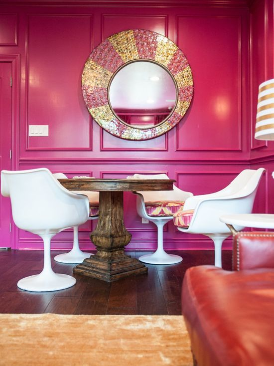 Benjamin Moore Crushed Berries Pink Color Scheme Living Room | Pink ...