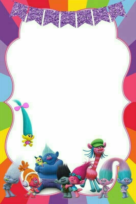 Birthday Party Invitation For Calling All Trolls Cakraest Template