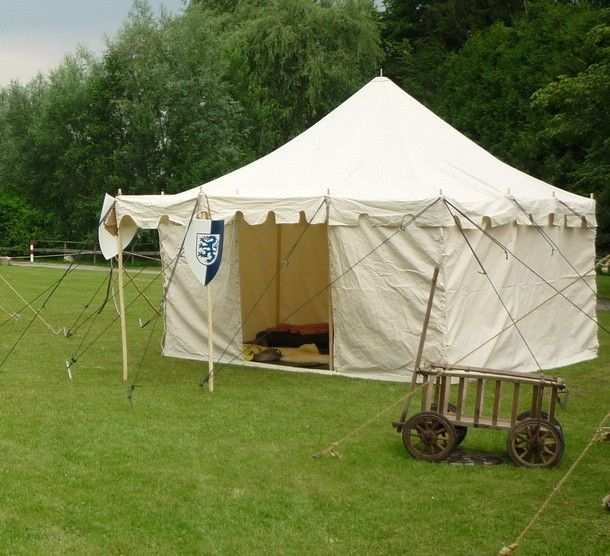 4x4 metre knights tent various colours medieval larp for A frame canvas tents for sale