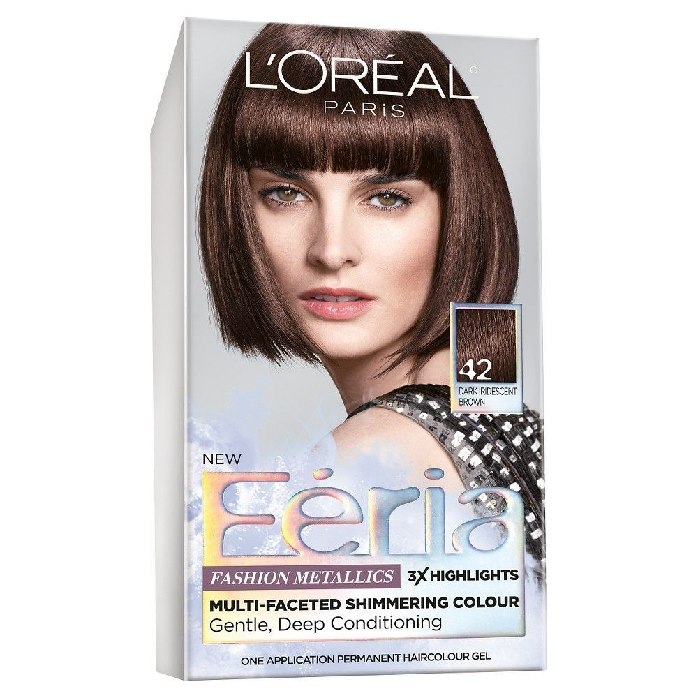 L oreal paris feria fashion metallics dark brown