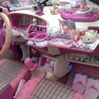 Hello Kitty fanatic!!!!! *This is NOT my car :)