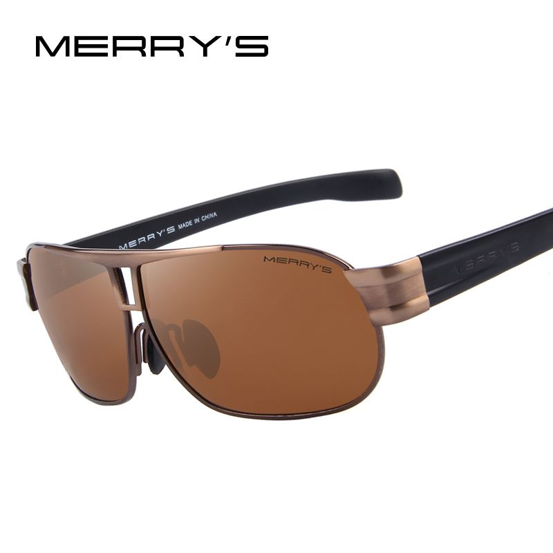 dca93d67a9 MERRY S Men Classic Brand Sunglasses Luxury Aluminum Polarized Sunglasses  EMI Defending Coating Lens Male Driving Shades S 8506
