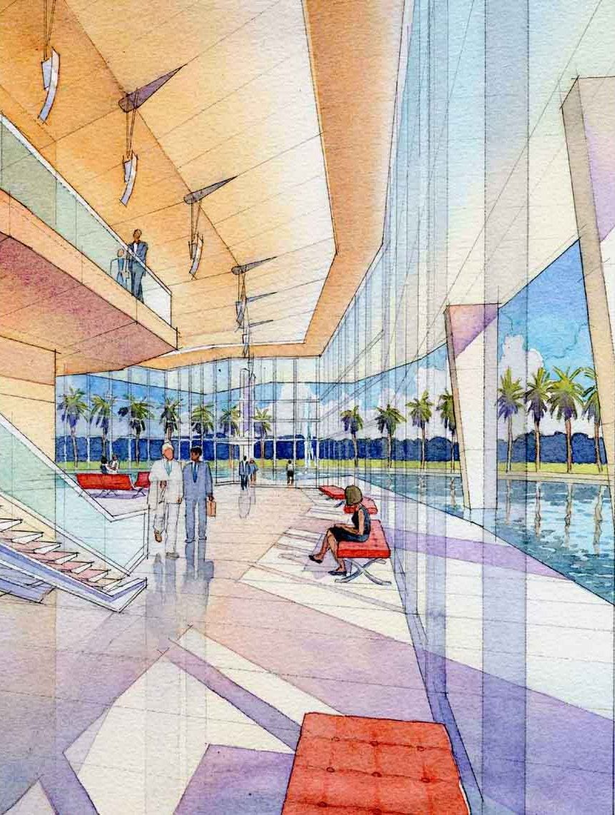 Watercolor Architectural Renderings — Akers Architectural Rendering