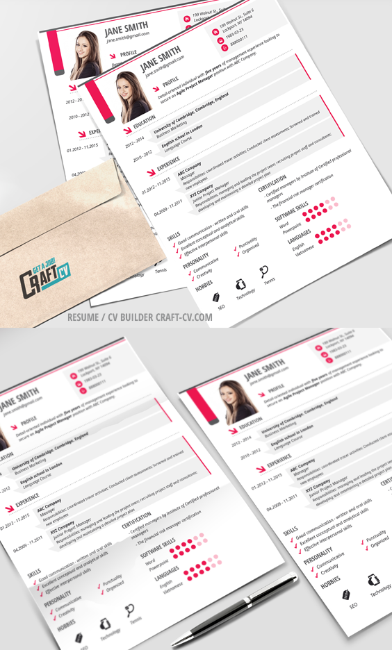 Creative Resume Sample From Craftcv  Creative Cv  Resume