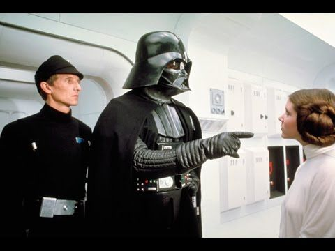 Darth Vader And Princess Leia A New Hope Star Wars Film Star Wars 1977 Star Wars Episodes
