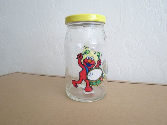 SESAME STREET Recycled Jar Holder by KreationsGalore on Etsy