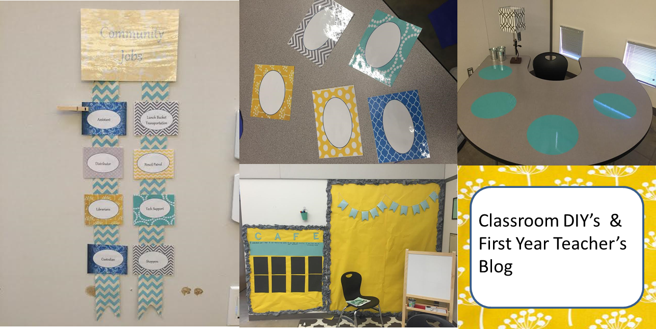 Some DIY projects, including labels, bulletin borders and whiteboard circles. From a first year teacher's blog. Brand New Box of Crayons