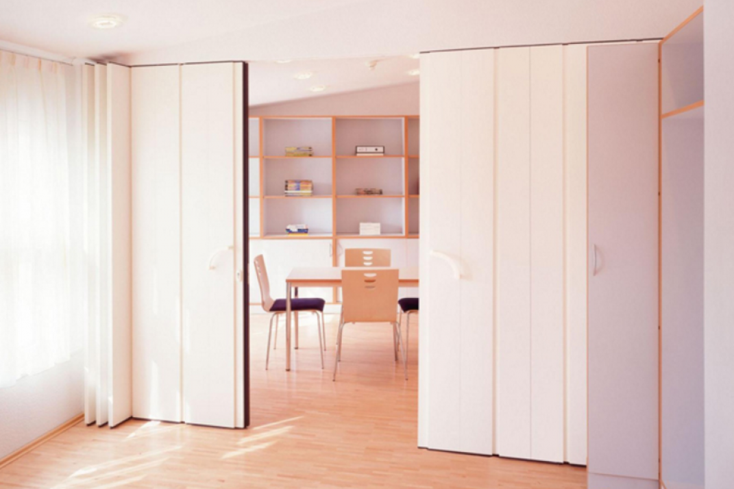 From 1 Room To 2 The Insider S Guide To Temporary Pressurized Walls Room Divider Bookcase Room Divider Walls Room Divider