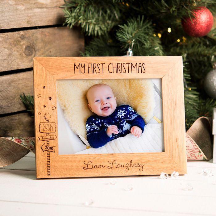 Danke sagen Geschenk mein erstes Weihnachten steht auf dem Rahmen ...