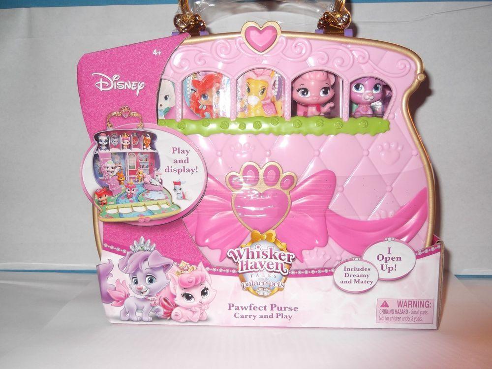9c43c3f4797 New Disney Princess Palace Pets Carry   Play Pawfect Purse Toy Whisker  Haven  DisneyPrincess