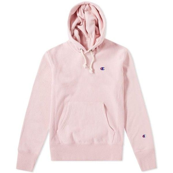 301424a59659 Champion Reverse Weave Classic Hoody ($99) ❤ liked on Polyvore featuring  tops, hoodies, pink top, champion hoodies, hooded pullover, pink hoodies  and ...