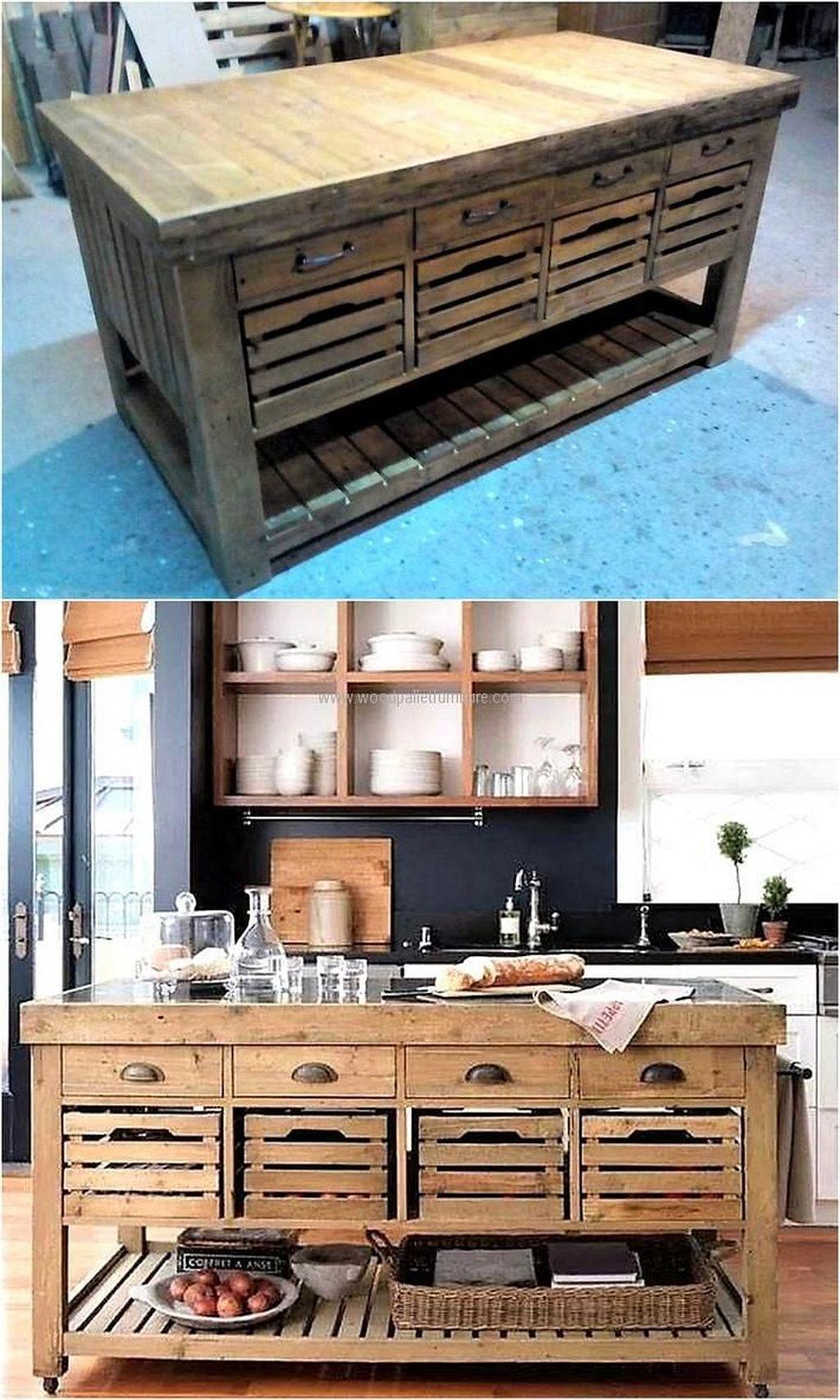 Pin By Derek Miller On Shop Cabinets Pallet Kitchen Cabinets Kitchen Design Diy Wood Pallet Furniture