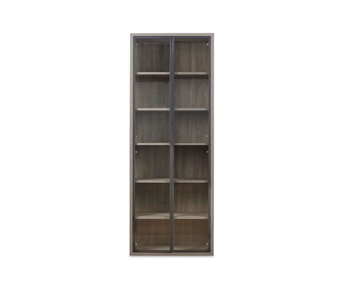 Gammel High Bookcase With Glass Doors Bookcase With Glass Doors