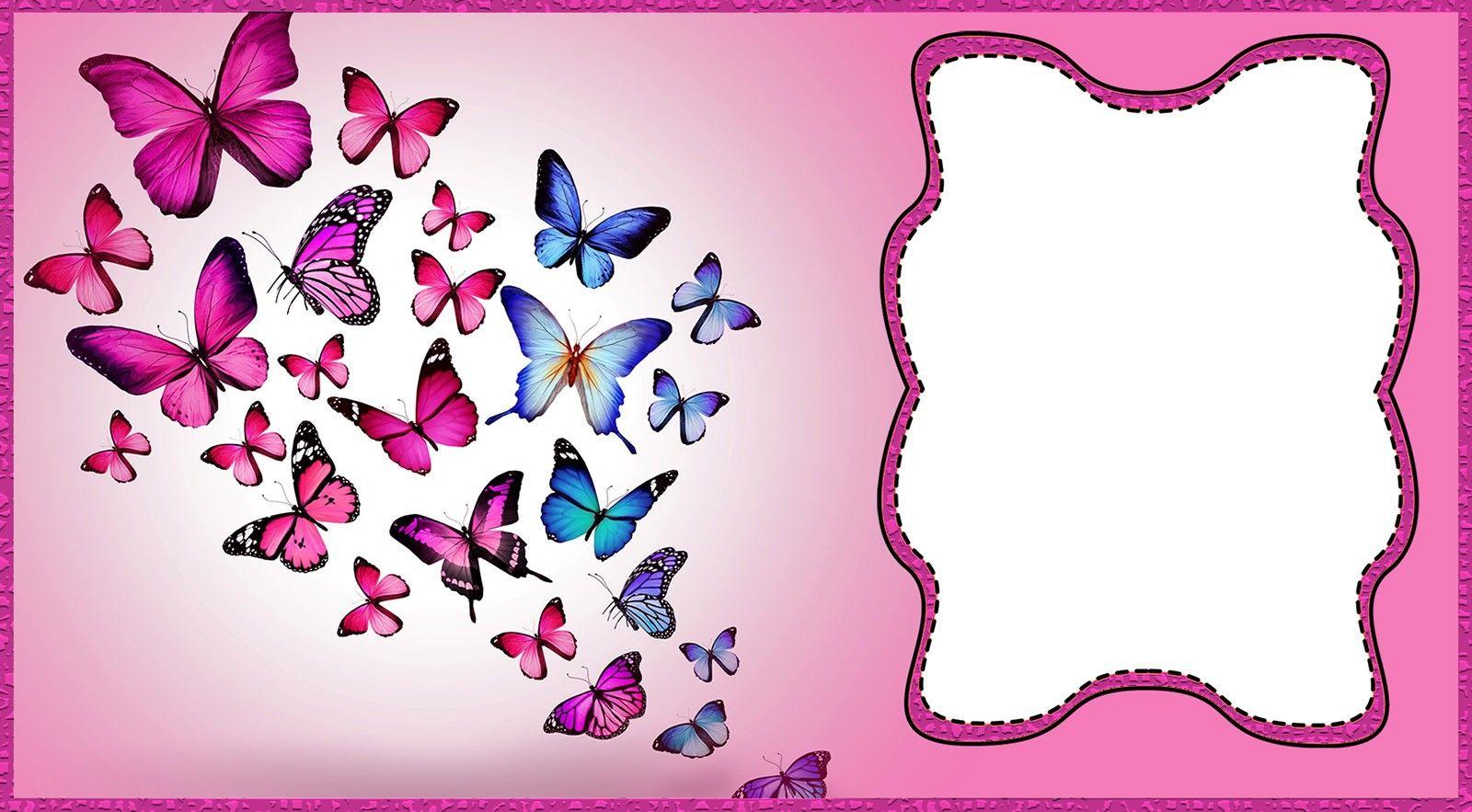 Printable Butterfly Birthday Invitation Butterfly Birthday Invitations Butterfly Invitations Butterfly Party Invitations