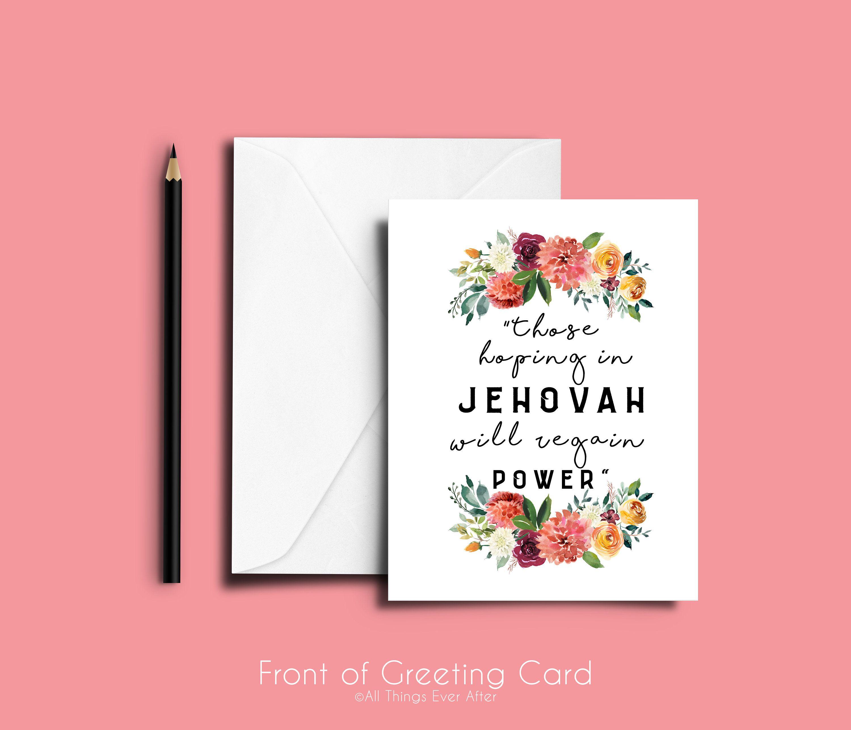 2018 Year Text Greeting Card Jw Pioneer Ske Co Elders