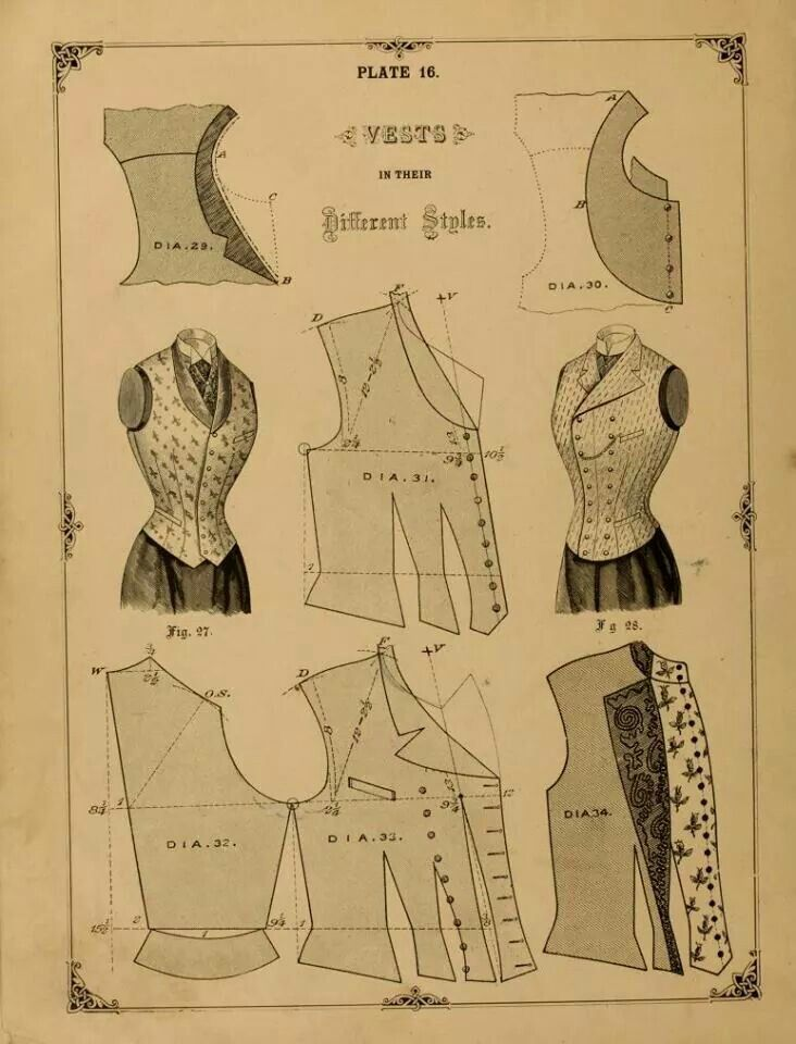 Victorian vest pattern. Joseph would have probably known how to do this!
