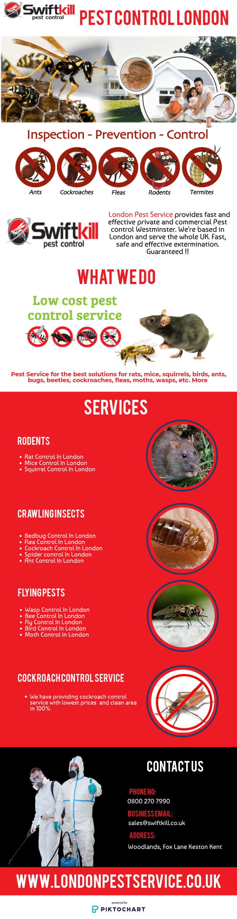 Pest Control in London is committed to providing a pest