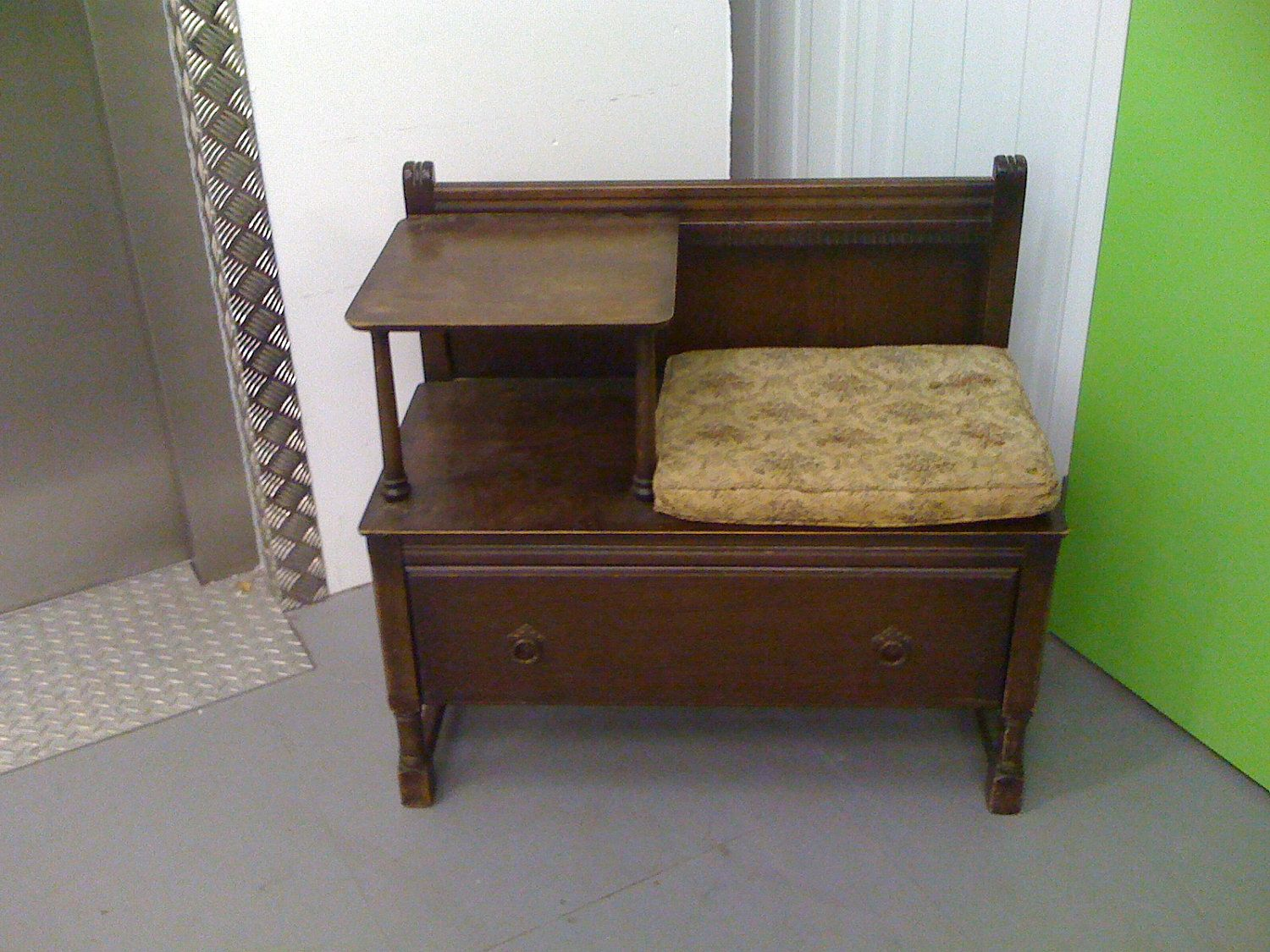 Oak Telephone Table With Drawer Gorgeous Vintage Chic 65 00 Via Etsy