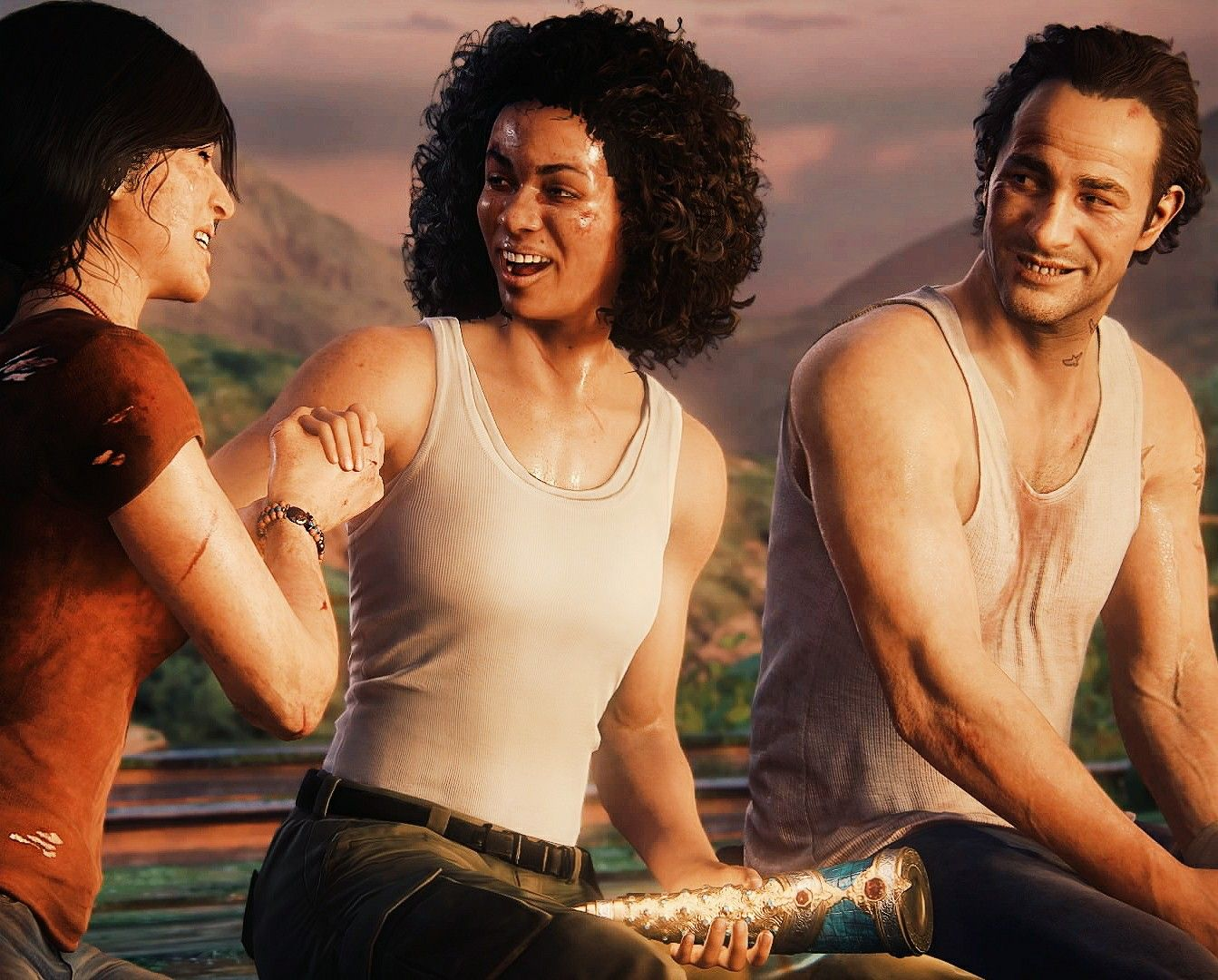 Chloe Nadine And Sam Uncharted The Lost Legacy Sam Drake