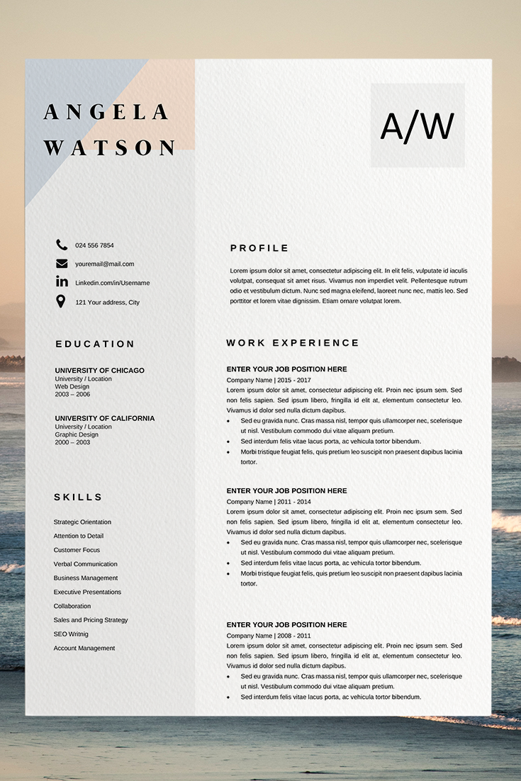 Resume Template Word Cv Layout Template Creative Resume Examples Resume Outline Template Modern Cv Layo Modele Cv Modele Cv Gratuit Modele De Cv Design