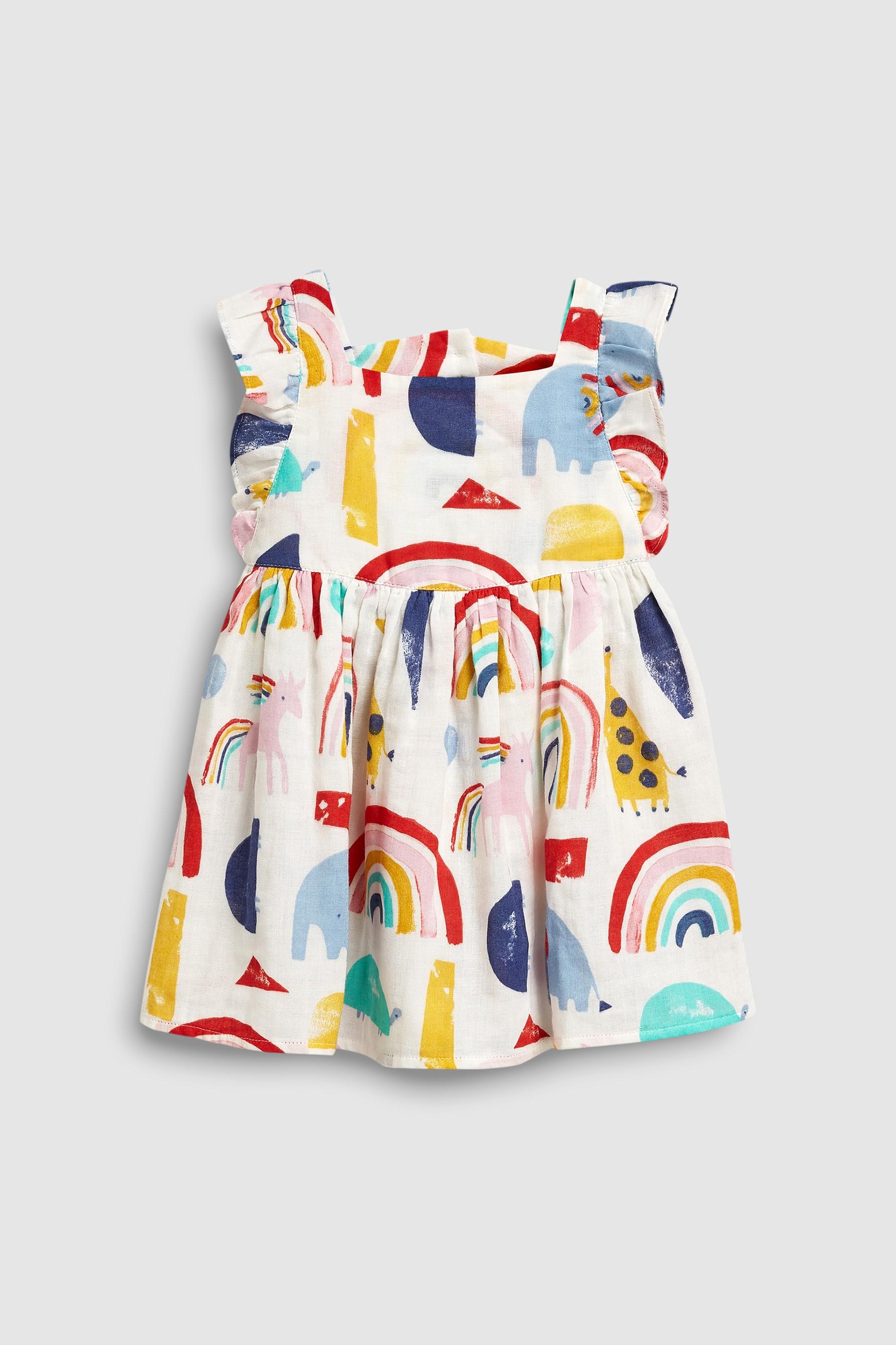 64eb1d2dd56fe Girls Next Rainbow Print Dress (3mths-7yrs) - White in 2019 | {Kids ...