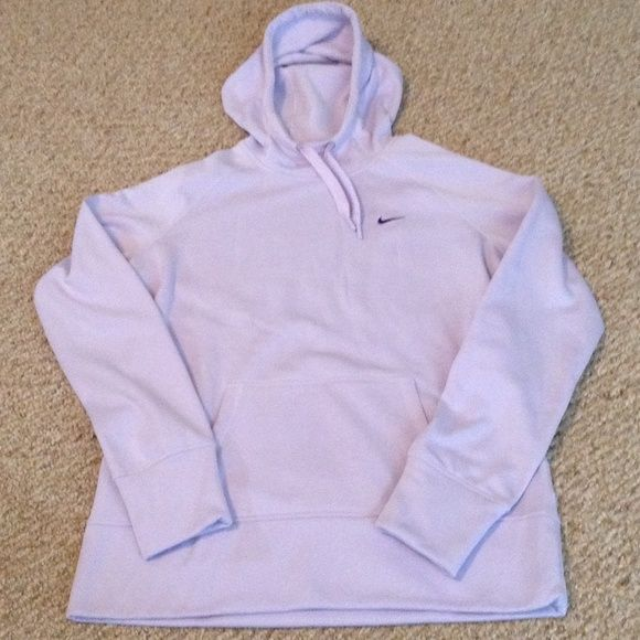 e57ff814a873 Nike Therma-fit Hoodie Great condition. Light purple color. Fleece lined.  Nike Tops Sweatshirts   Hoodies