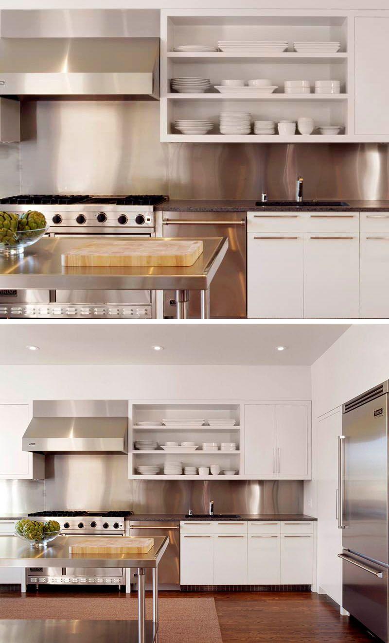Kitchen Design Idea – Install A Stainless Steel Backsplash F…