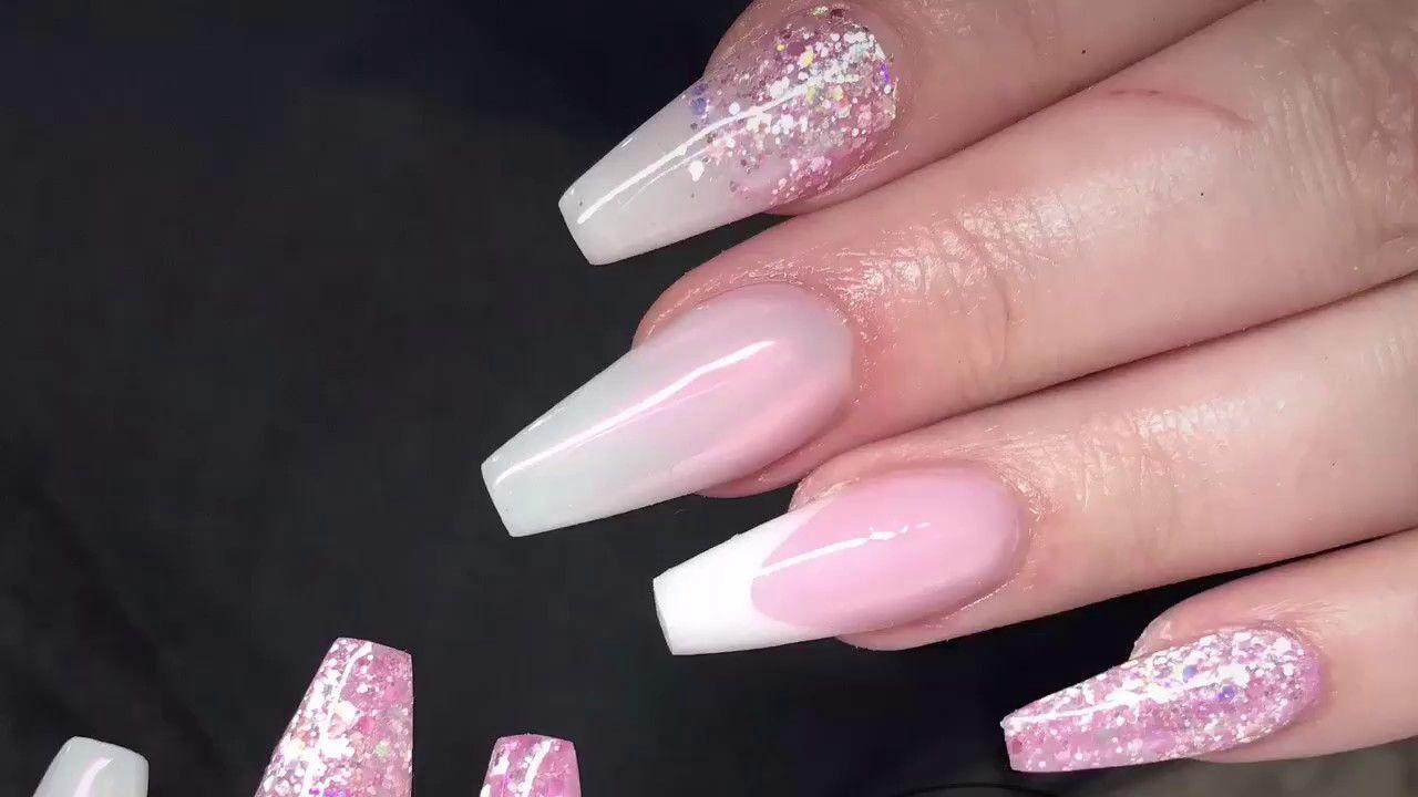 Pretty Pink Nails Acrylic Nails Pink Nails Nails Fun Nail Colors