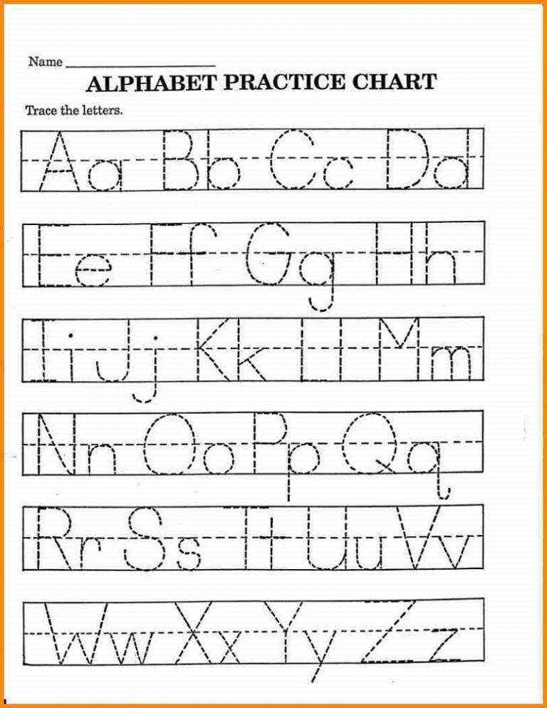 Pre K Math Worksheets Printable Alphabet Tracing