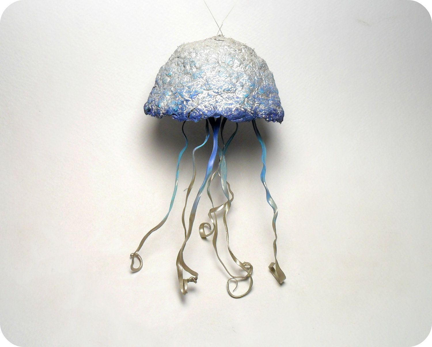 Sculture Mobili ~ Jellyfish hanging sculpture mobile recycled by laurelandlime $27.00