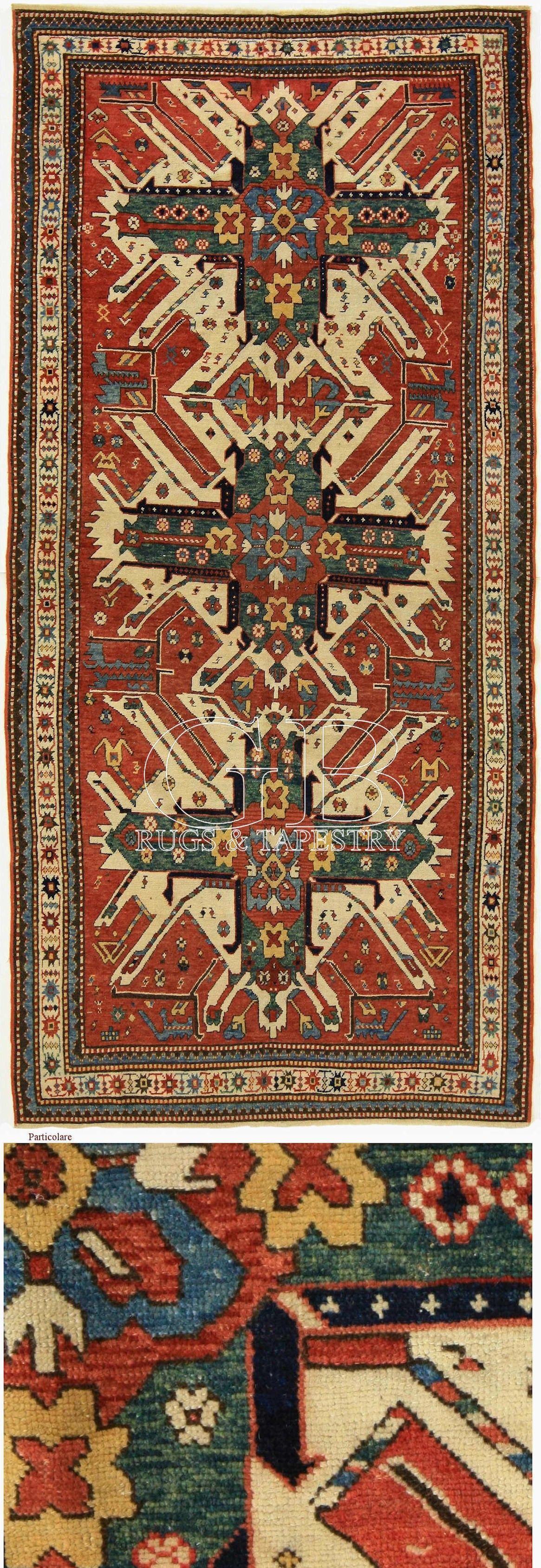 Caucasian Eagle Kazak rug, 255 x 125 cm Rugs