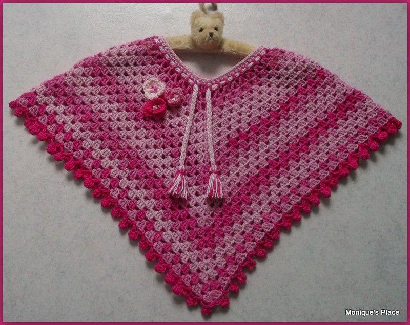 Meisjes Poncho Breien En Haken Pinterest Crochet Poncho