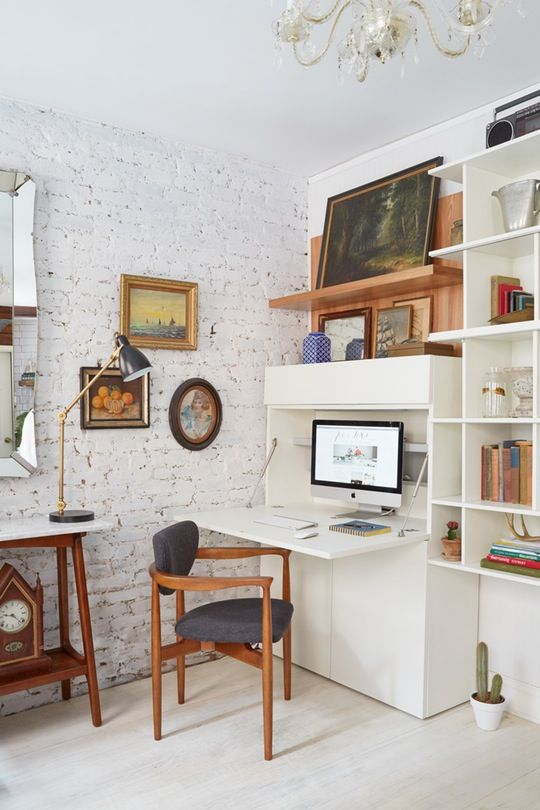 10 Perfect Living Room Home Office Nooks Short On Space But Not Adorable Living Room Office Ideas Review