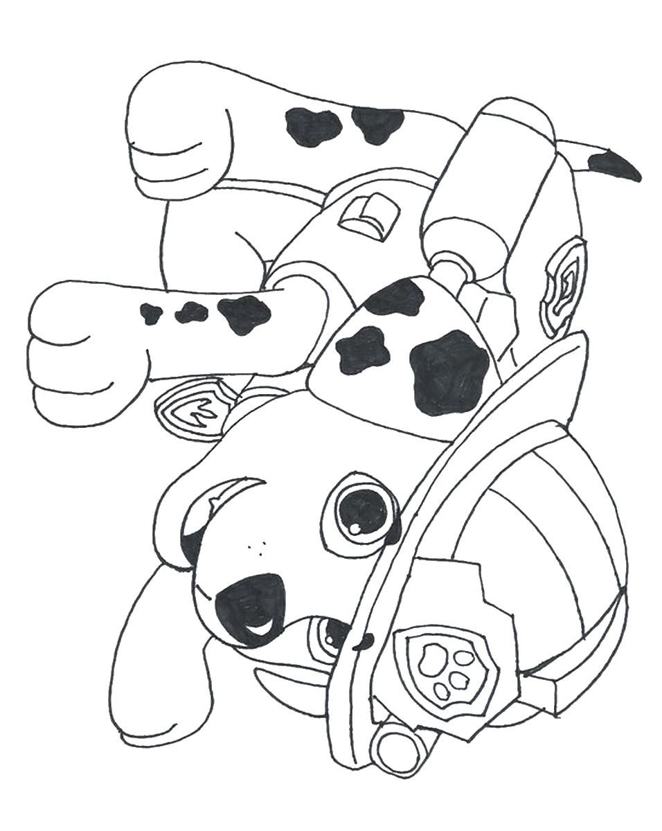 Free coloring pages paw patrol
