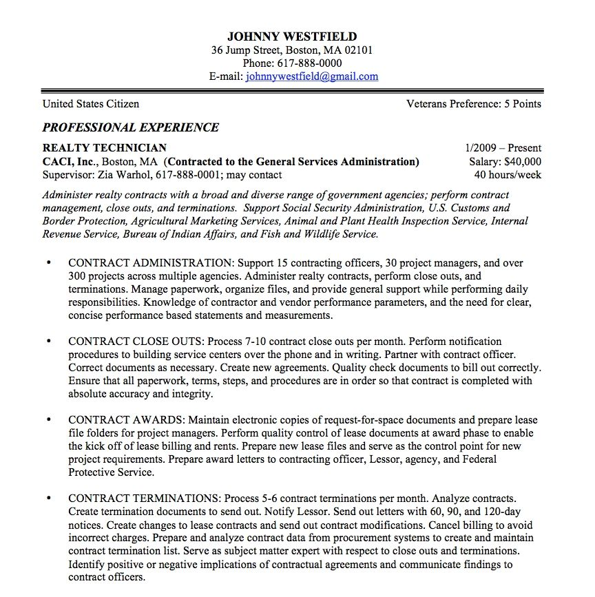 Ses 5 Page Resume Examples Federal resume, Job resume