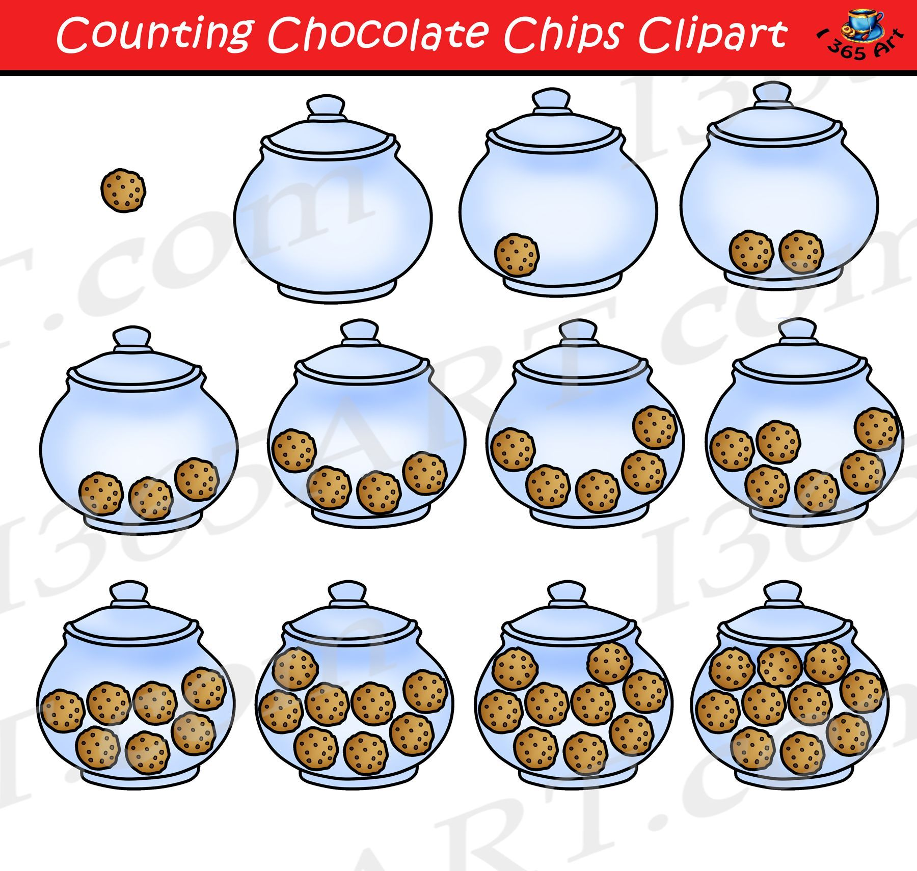 Counting Cookies Clipart Cookie Jar Graphics Download