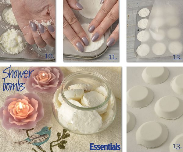 How to make shower bombs, Steps 10 to 13