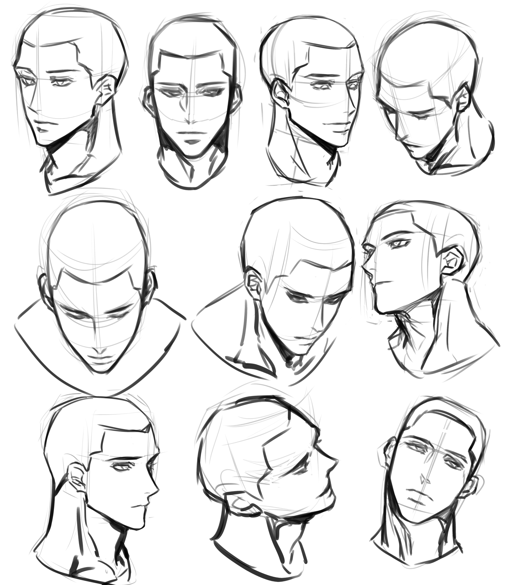 Pin By Camille Yu On M Drawing Expressions Face Drawing Reference Male Face Drawing Drawing Expressions
