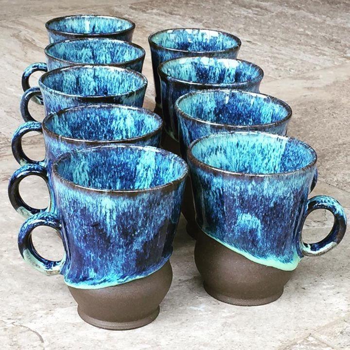 Laguna Royal Blue Over Opulence Sea Spray Clays Glazes