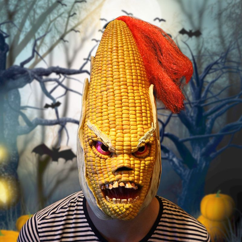 Angry Mr Old Corn Creative Halloween Mask High-end Yellow Maize